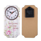 Battery Power Vintage Wooden Wall Clock Silent Bar Decor Wall Hanging Mounted *1