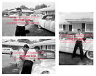 1956 ELVIS PRESLEY in the FRONT YARD Audubon Drive MEMPHIS Photo LOT of (3) 001