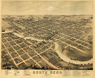 Map of South Bend Indiana c1874 24x20