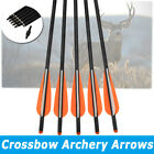 6X 16-22Inch Carbon Crossbow Bolts With Moon Nock Target Hunting Shooting Arrows