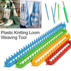 Creative Knit Needle Weaving Tools Plastic Knitting Loom Hook Rectangle DIY Set