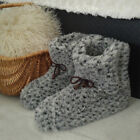 Men's Women's Ladies 100% Wool Boot Slippers Ankle Booties Boots Size UK 3-12