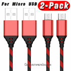 2 PACK MICRO USB CHARGING CABLE CORD SYNC FOR ANDROID CELL PHONE 3FT 6FT 10FT