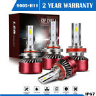 2Pair 9005 + H11 Combo LED Headlight Low High Beams White CSP Bulbs 6000K $58.99 CAD on eBay