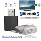 3in1 Bluetooth 5.0 Transmitter Receiver Adapter Audio USB Wireless Stereo Dongle