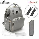 Kyпить LEQUEEN USB Interface  Mom Diaper Bag Backpack Large Capacity Baby Nursing Bag на еВаy.соm