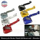 Motorcycle Brake Clutch Master Cylinder Fluid Reservoir Oil Tank Cup Bracket CNC $10.75 USD on eBay