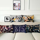 Home Decor BTS Pillow Cases Bangtan Boys Pillowcases Office Sofa Car Pillowcases image