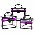 Внешний вид - SHANY Extra-Large Clear Cosmetics and Toiletry Train Cases with Secure Closure