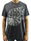 Star Wars Millennium Falcon Plans Charcoal Heather Men's T-Shirt New $13.29 USD on eBay