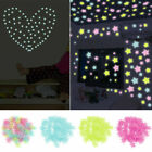 100-300x Glow In The Dark Plastic Luminous Stars Stickers Ceiling Bedroom Art Us