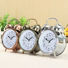 Double Bell Alarm Clock Snooze Battery Operated Classic Bedside Round Silent