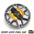 TITANIUM FCR 1/4 Quick Lock Gas Fuel Cap For Triumph Daytona 600 / 650 03 04 05 $50.22 USD on eBay