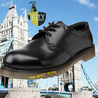 ICONIC SS100 Work Safety Black Leather Shoes Air Cushion Sole Steel Toe Cap 3-12