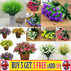 Artificial Lily Tulip Flowers Fake False Plastic Outdoor Plants Grass Garden Ycj