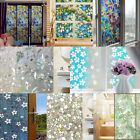 45x200cm Frosted Privacy Glass Film Chic Xmas Door Window Flower Sticker Decor