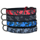 Leather Dog Collar Medium Small Camouflage Puppy Collars Soft Padded Pet ID Tag