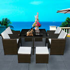 Cube Rattan Garden Furniture Set Chairs Sofa Table Outdoor Patio 8 Seater Uk