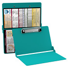NURSING/HEALTH CARE FOLDABLE CLIPBOARD WITH OPTIONAL EDITIONS - TEAL COLOR