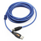 New USB 2.0 A Male to B Male Scanner Computer Wire Cable Extension Converter lot