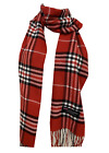 Winter Womens Mens 100% Cashmere Wool Wrap Scarf Scotland Made Plaid Scarves