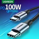 Ugreen PD 60W 100W USB Type C to USB C Cable Fast Charging Data Cord For Macbook