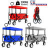 More images of Heavy Duty Foldable Garden Trolley Cart Wagon Pull Along Sports Truck 4 Wheel