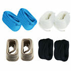 2 Pack 3/4 Inch 50FT Double Braid Nylon Dock Line Marine Mooring Rope 4 Colors