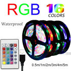 RGB LED Light Strip Waterproof USB String Lights Bar For TV Back Remote Control