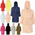 Kids Girls Boys 100 Cotton Soft Terry Hooded Bathrobe Luxury Dressing Gown 3-13
