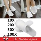20/50/100 Pair Towelling Hotel Slippers Closed Toe Terry Guest Shoes Disposable