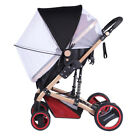 2-in-1 Baby Infant Stroller Mosquito Net Cover Sun Shade Canopy Protector