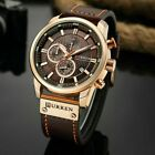 Curren Luxury Mens Women Quartz Leather Stainless Steel Analog Date Wrist Watch image