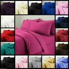 4 PIECE SHEET SET 100% EGYPTIAN COTTON ALL SOLID BEDDING COLORS & SIZES image