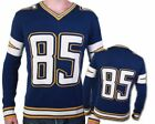 *NEW* Los Angles Chargers Antonio Gates #85 Knit V Neck Pullover Sweater $42.49 USD on eBay