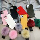 Fashion Fuzzy Ball Strap Phone Case Cover For iPhone 11 Pro Xs Max XR 7 8 Plus $8.98 USD on eBay