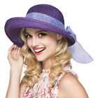 Adjustable Foldable Women Travel Summer Sun Straw Hat Brim Trilby Bowler US Post