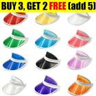 Unisex Retro Neon Sun Visor Hat Headband Cap For Golf Tennis Stag Poker Party AT