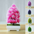 Artificial Plant Plastic Mini Pine Bonsai Tree in Pot Office Home Decoration