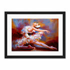 Ballet+Dancing+Saute+Painting+Framed+Wall+Art+Print+18X24+In