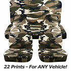 Camouflage Car Seat Covers for ANY Car/Truck/Van/SUV/Jeep Full Set: Front & Rear
