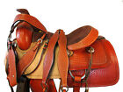RANCH ROPING SADDLE WESTERN HORSE CUSTOM MADE LEATHER PLEASURE TACK SET 16 17 in