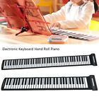 61/88 Keys Flexible Hand Roll-Up Piano Portable Electronic Keyboard With Adaptor
