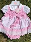 Baby Girl Toddlers Dress Jam Pants Spanish Style Headband 0-24 Months 3 Pce Pink