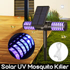 Solar Powered Outdoor Waterproof Mosquito Bug Insect Zapper Killer Trap Lamp
