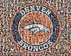 Denver Broncos Player Mosaic Print Art Designed Using The Greatest 100 Bronco Pl $42.0 USD on eBay