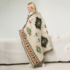 Indian Beach Knitted Blanket National BOHO Pattern Cotton Woven Couch Home Decor image