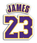 Lakers Lebron James 23 Sticker Basketball Decals NBA on eBay