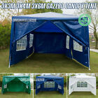 3X3/4/6M Gazebo Marquee Party Tent With Sides Waterproof Garden Outdoor Canopy