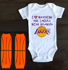 Los Angeles Lakers Onesie Bodysuit Shirt Outfit Love Watching With Grandpa on eBay